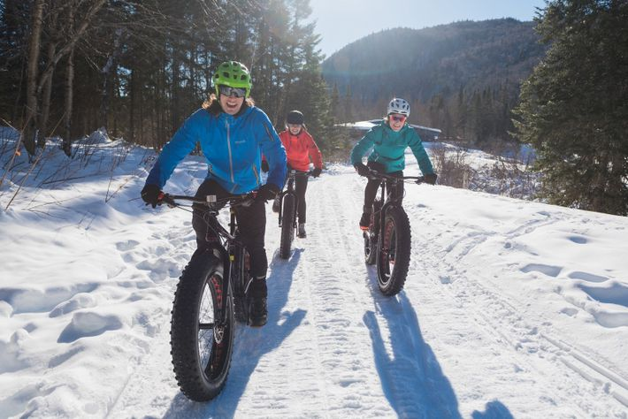 Fat-biking is a fast-growing winter sport for Canadians, and Parc national de la Jacques-Cartier, Quebec, offers ...