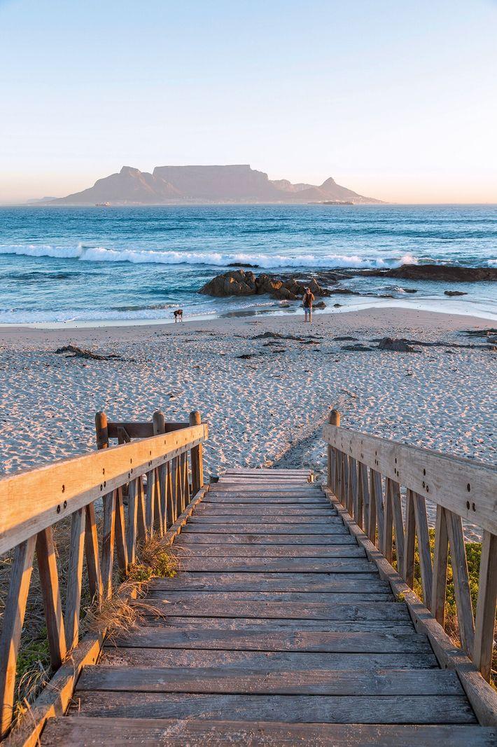 Bloubergstrand Beach, Cape Town, South Africa.