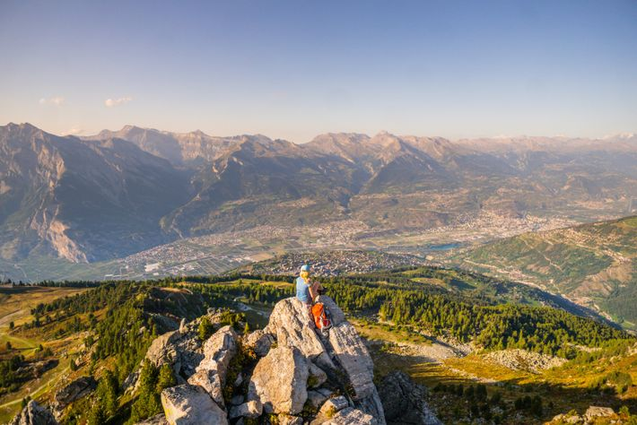 During the Nendaz Trekking tour, travellers canhike on mountain ridges paths offering views of the Alps ...