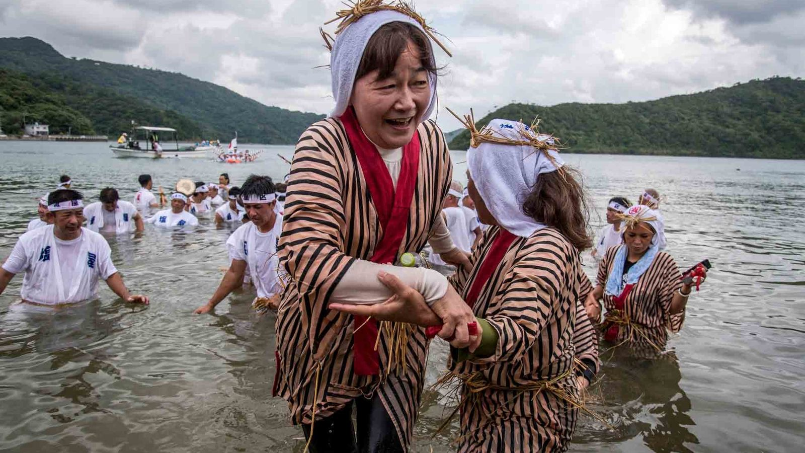 Celebrations like the Ungami Festival, held at Shioya Bay and devoted to the god of the ...
