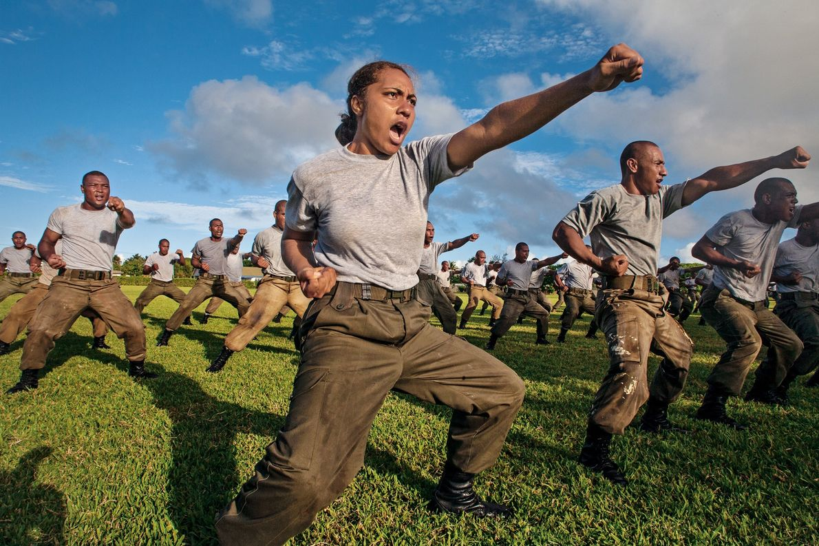 2007, TONGA Fuatapu Halangahu practices martial arts with other members of the Tonga Defense Services. The Polynesian ...
