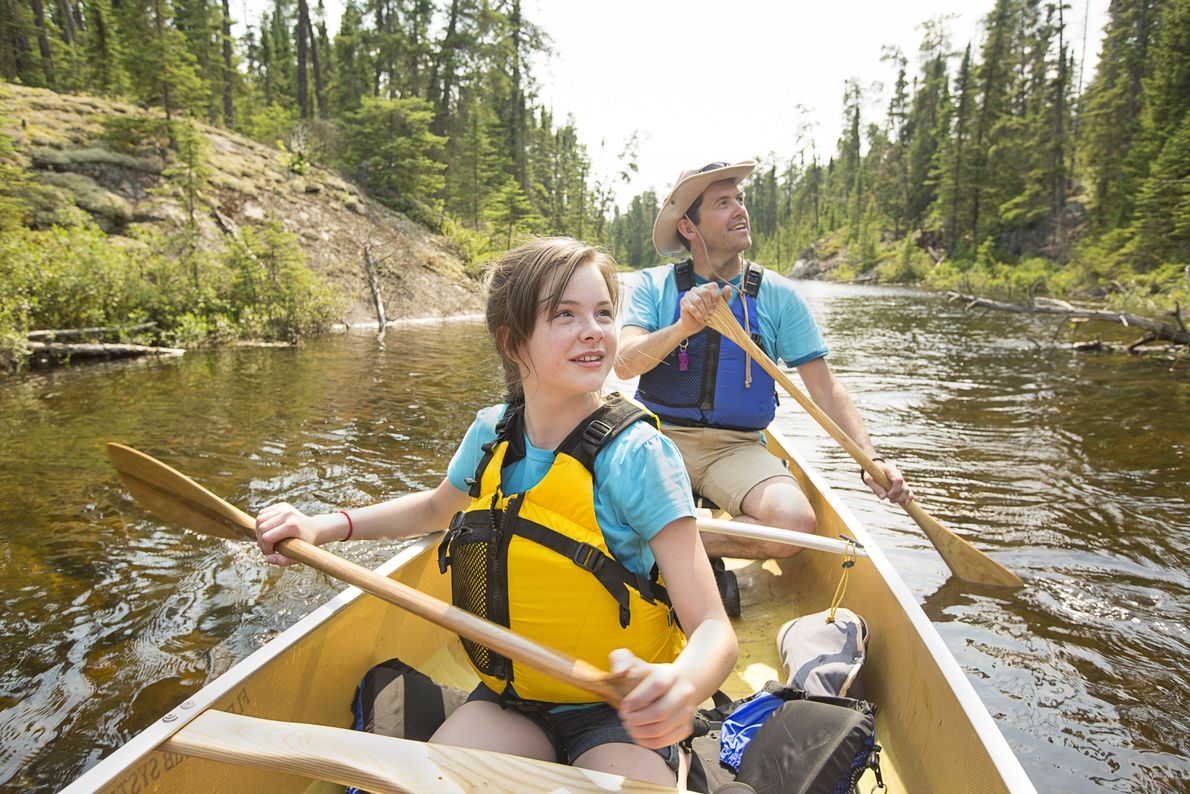 Take the family on a canoe adventure in Woodland Caribou Provincial Park.