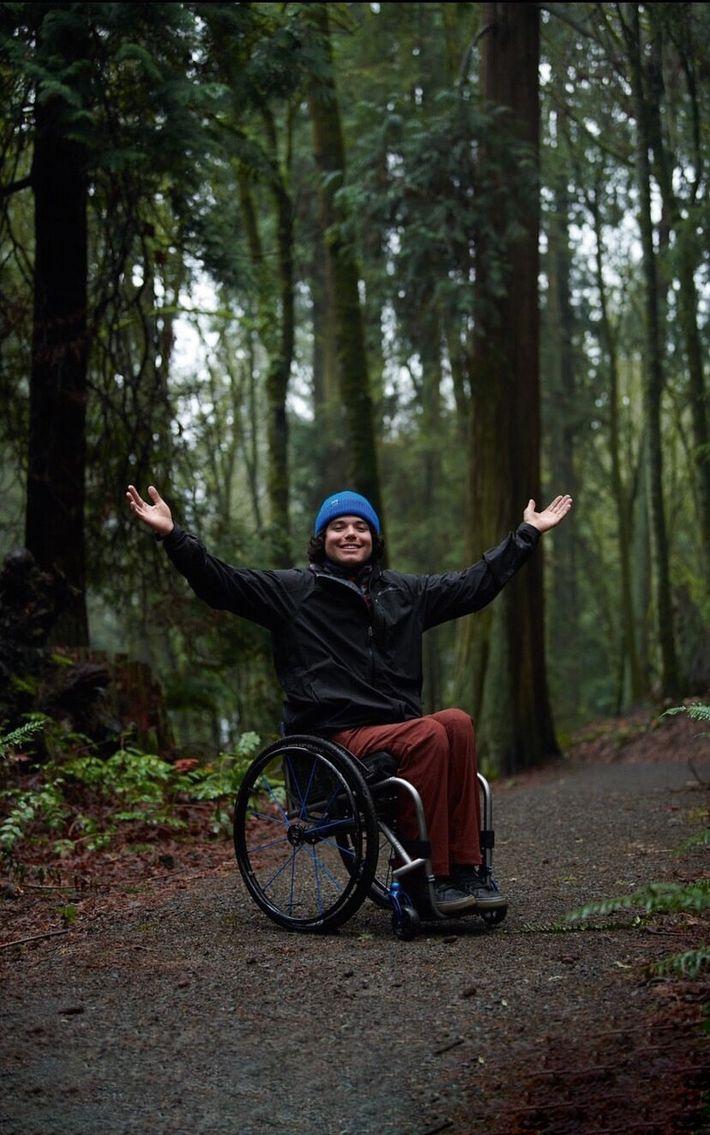 Trevor Kennison, a professional sit-skier.