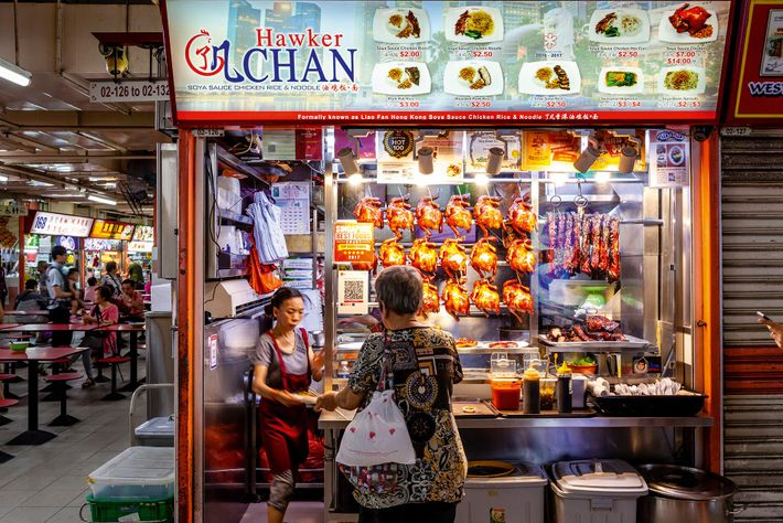 Michelin-starred Hawker Chan in the Chinatown Complex Food Centre, where you can try chef Chan Hon ...