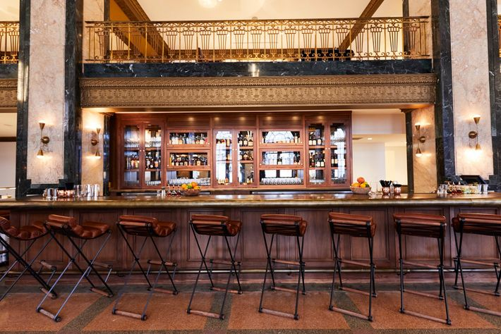 Bar at Noelle, aDowntown boutique hotel housed in a 1930s landmark on Printer's Alley.