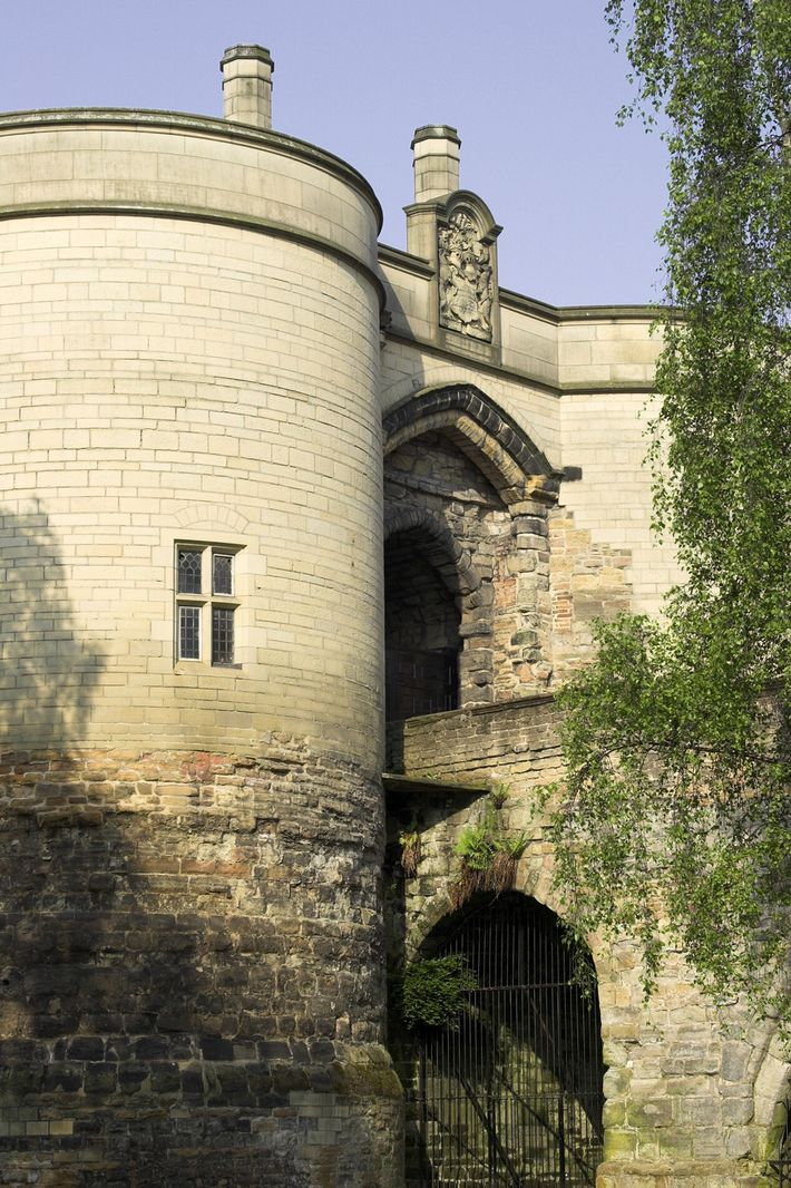 Nottingham Castle gatehouse, built in the 13th century. The fortress has had a 21st-century sprucing up ...