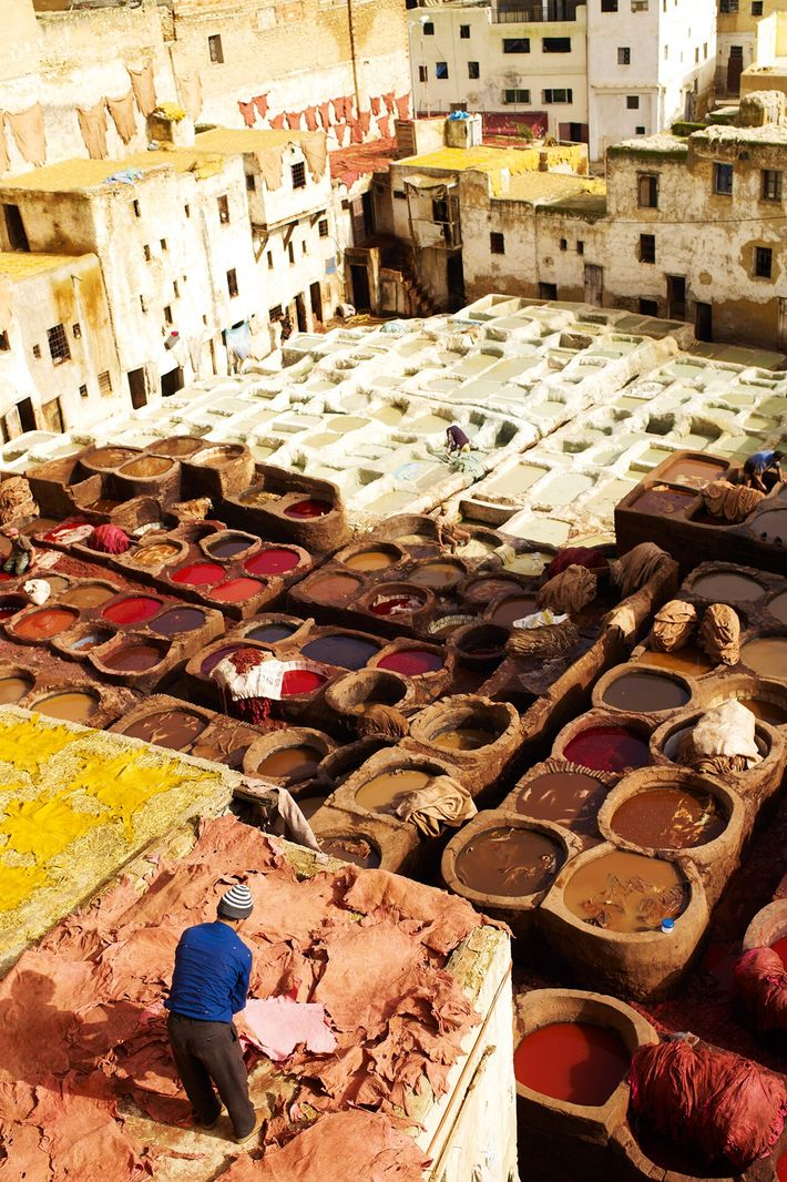 One of the city's most famous products is its leather goods, and no trip to Fez ...