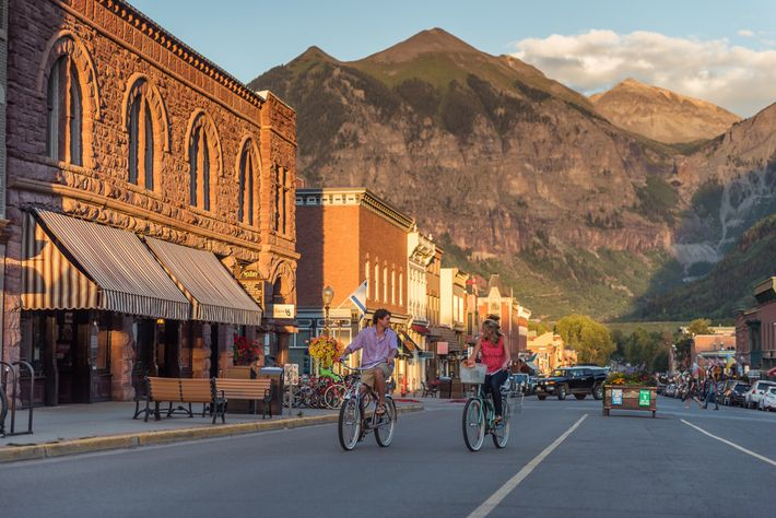 A former silver-mining town, Telluride is now aa popular ski resort.
