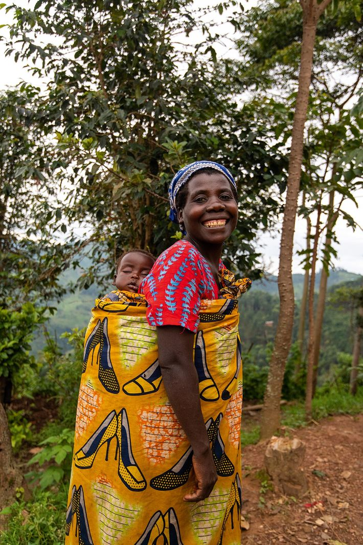 Aresident of the Batwa community of Sanurio village, high in the hills of Nkuringo.