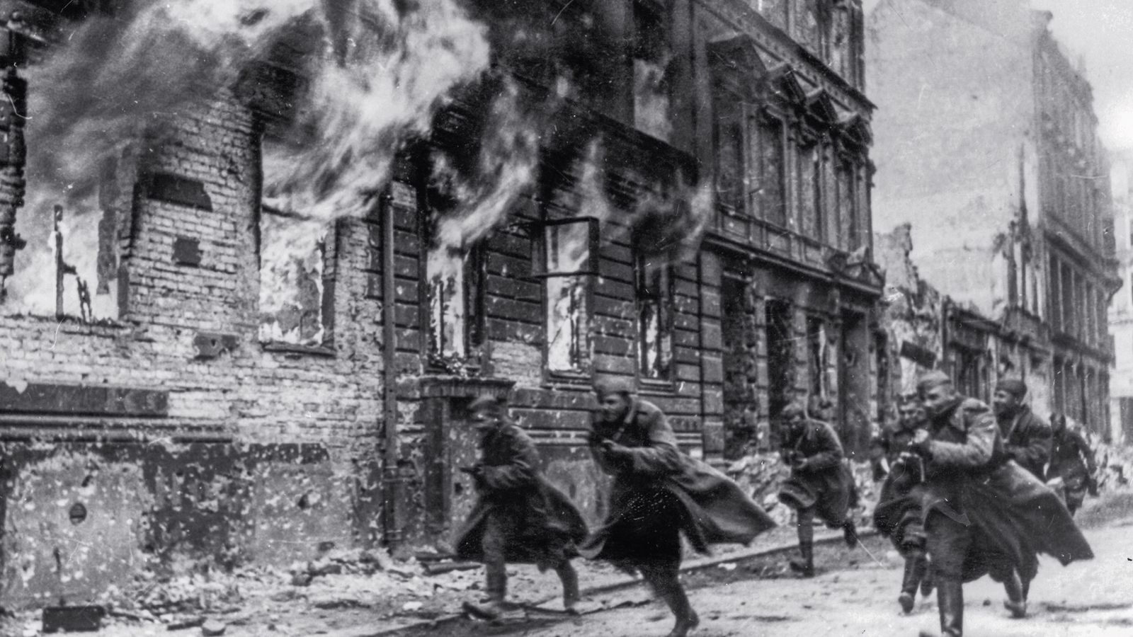 Racing to claim the prize that was Berlin, Soviet soldiers rush through the streets of the ...