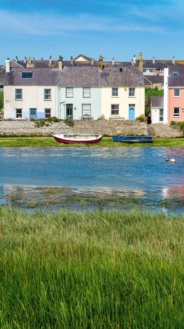 The village of Aberffraw on the Afon Ffraw, on the west coast.
