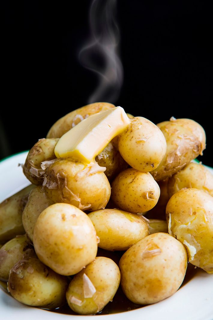 Pembrokeshire early potatoes are small and have an earthy, sweet flavour and a light buttery texture ...