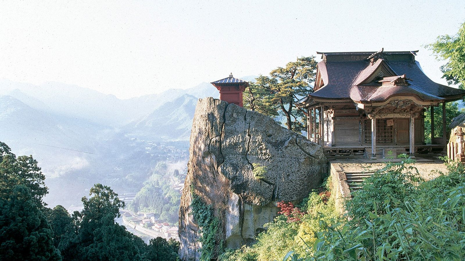Built over a thousand years ago, the Yamadera temple is a picturesque spot in the mountains ...