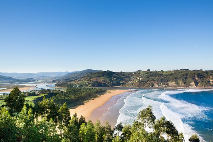 The Asturian coast stretches across  around 400km and some 200 beaches, including the river mouth cove ...