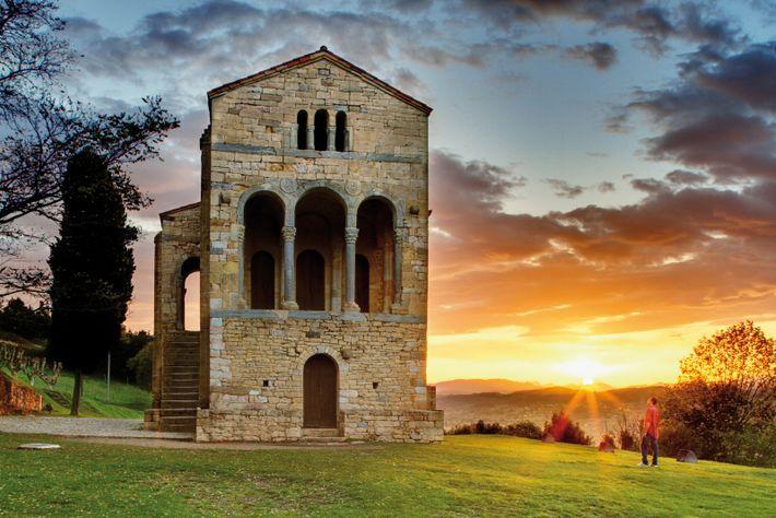 Built on a mountainside by King Ramiro I in the 9th century, Santa María del Naranco ...