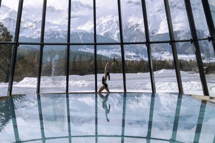 Aqua yoga, Switzerland.