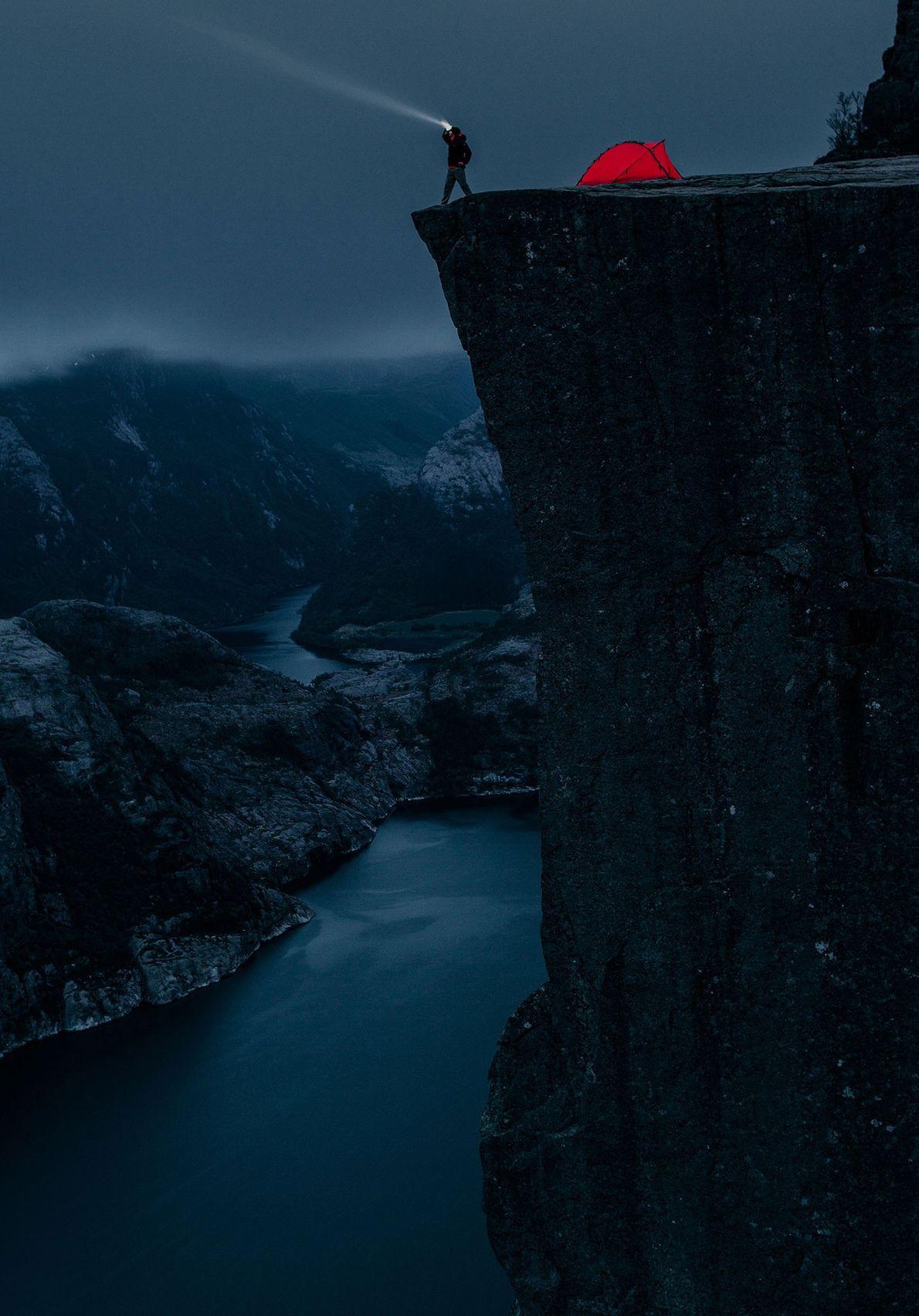 Preikestolen cliff, Forsand, Norway