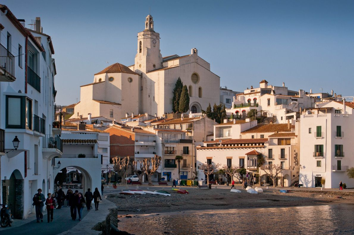 The whitewashed coastal town of Cadaqués sits in Costa Brava along Spain's northeastern tip. Considered one ...