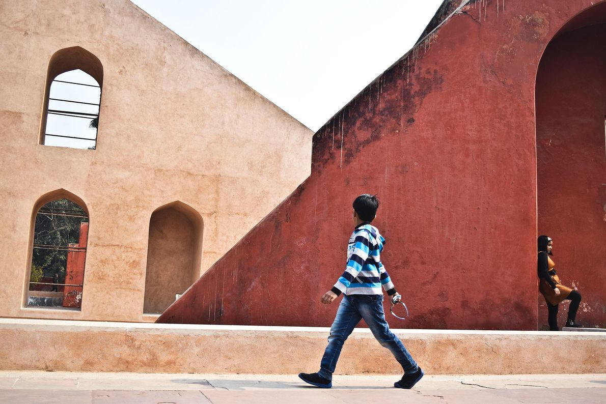 New Delhi, India  Jaipur's astronomical observation site of Jantar Mantar was built by Jai Singh II for ...