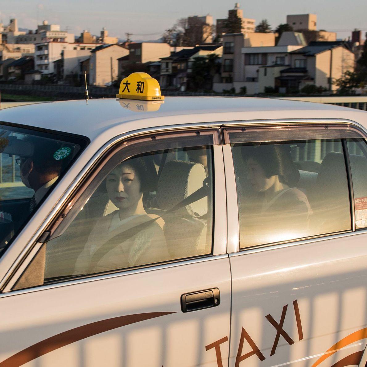 Kanazawa-shi, Ishikawa, Japan  The geisha districts of Kanazawa are hundreds of years old. Taxis have a shorter ...