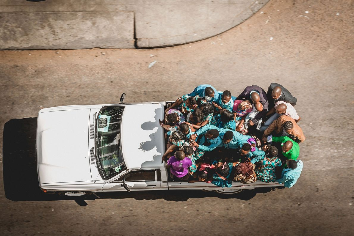"""Maputo, Mozambique  In Mozambique weddings, """"the families of the bride and groom wear different clothes, each with ..."""