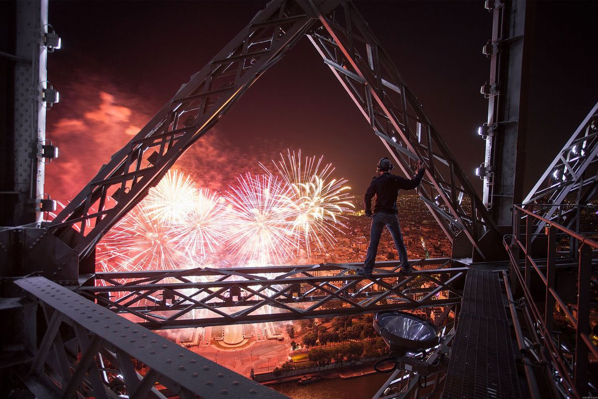 Paris Every few years, Bastille Day fireworks are launched from Paris's Eiffel Tower, giving some lucky technicians ...