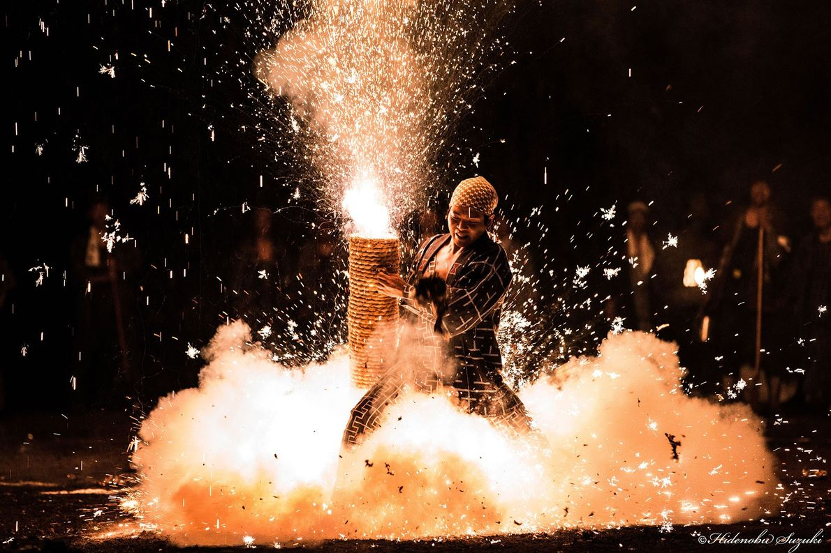 Japan  The three-day-long Toyohashi Gion Festival is known for its hand-tubed fireworks (tezutsu hanabi). Masters carry ...