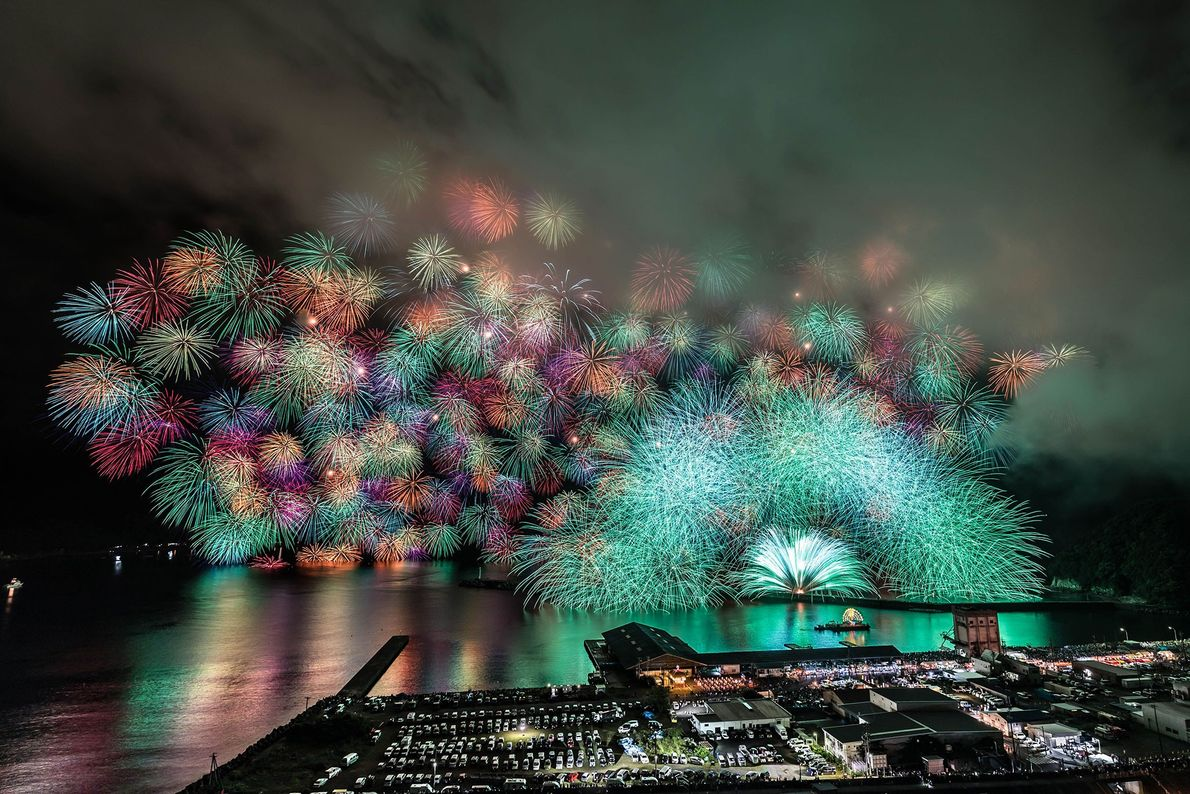 """Japan An integral part of summer, the Japanese word for fireworks is hanabi, which translates to """"flowers ..."""