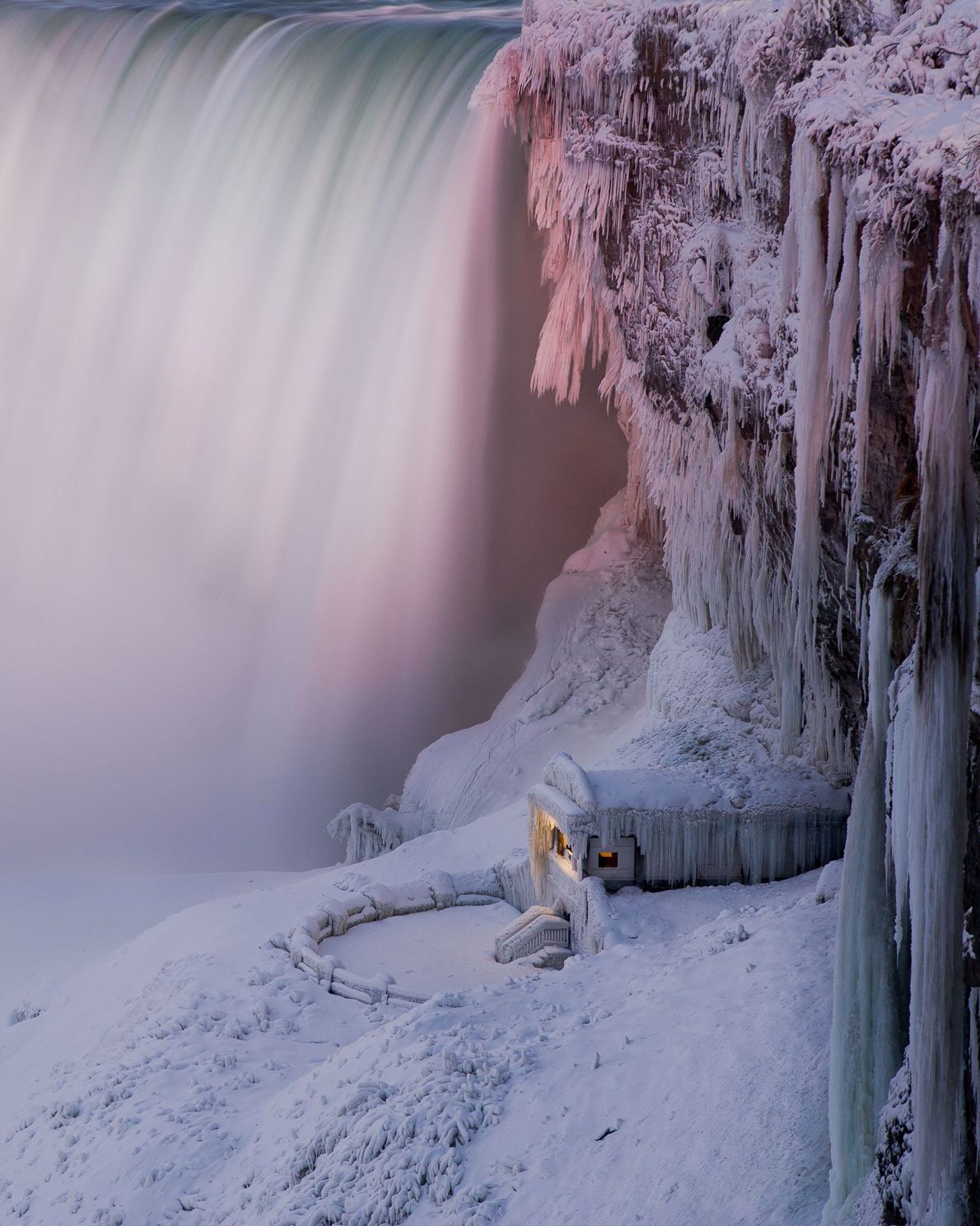 The famous falls (actually composed of three separate cataracts) has the highest flow rate in North ...