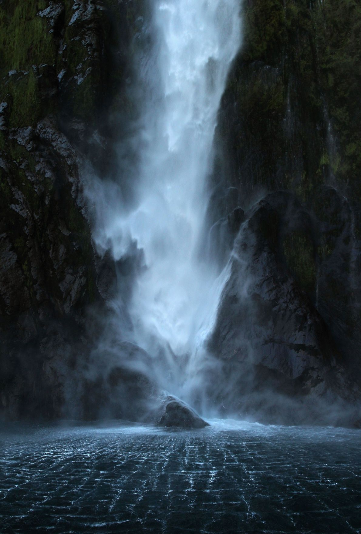 """Stirling Falls plummets from a height of nearly 500 feet in Fjorland National Park. """"I went ..."""
