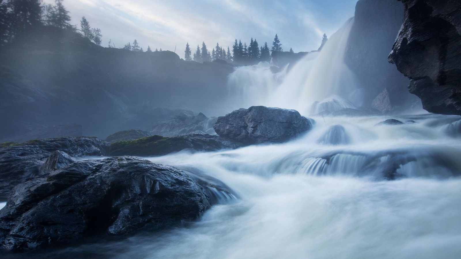Nearly 200 feet wide, this popular waterfall is one of Sweden's largest.