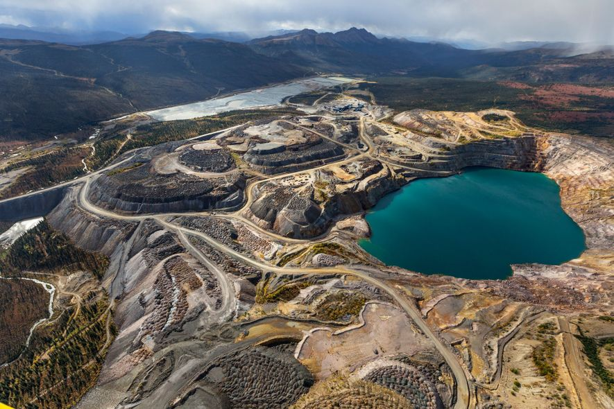 Yukon's former Faro Mine, which is now being remediated, was one of the largest open pit ...