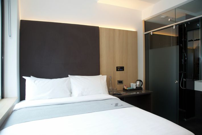 Set just off buzzy Old Street, Z Hotels' East London outpost has a smart, industrial-chic feel.