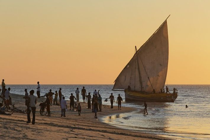 Dhow on the beach in Stone Town. Image: Getty