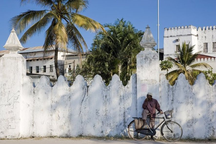 Pausing for thought in Stone Town. Image: Getty