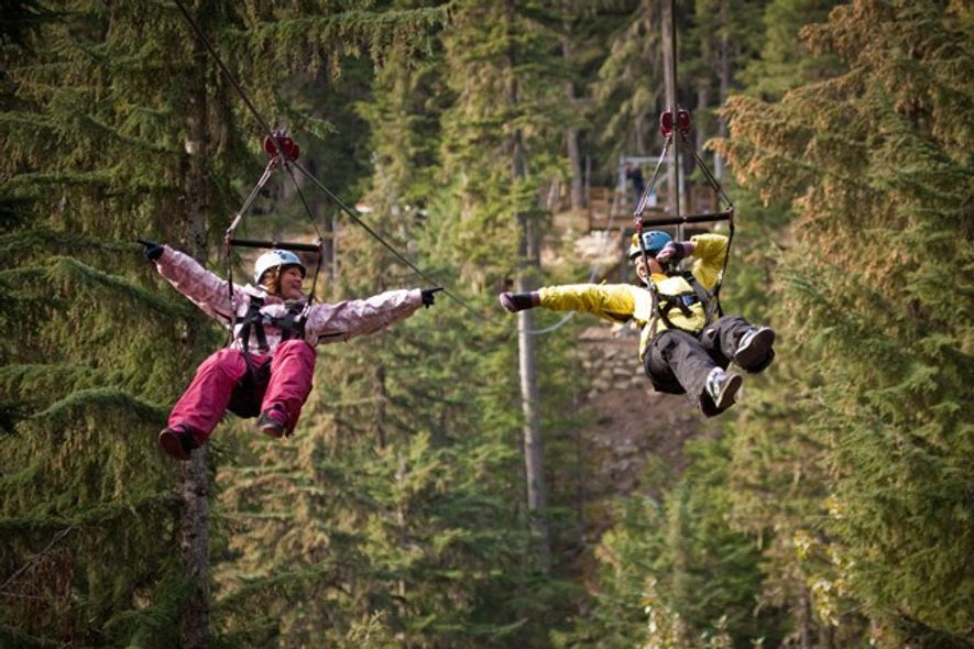 Zip-lining, Canada. Image: Getty